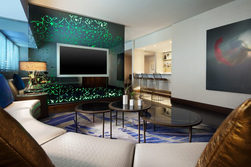 W Los Angeles West Beverly Hills Luxury Hotel - Los Angeles, CA, USA - E Wow Living Room