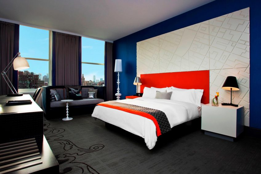 W New York Union Square Luxury Hotel - New York, NY, USA - Mega Guest Room Bed