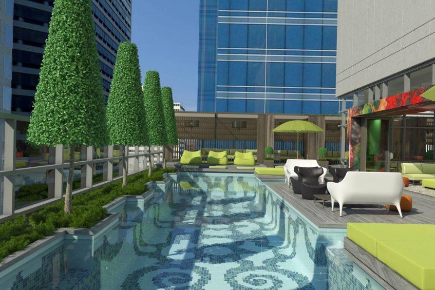 W Philadelphia Luxury Hotel - Philadelphia, PA, USA - Wet Deck Pool