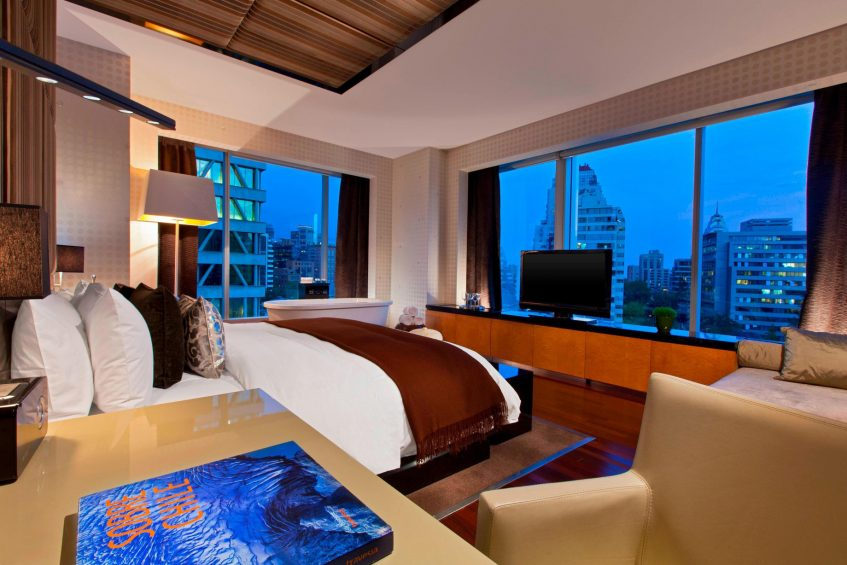 W Santiago Luxury Hotel - Santiago, Chile - Extreme Wow Suite Living Room and Terrace View