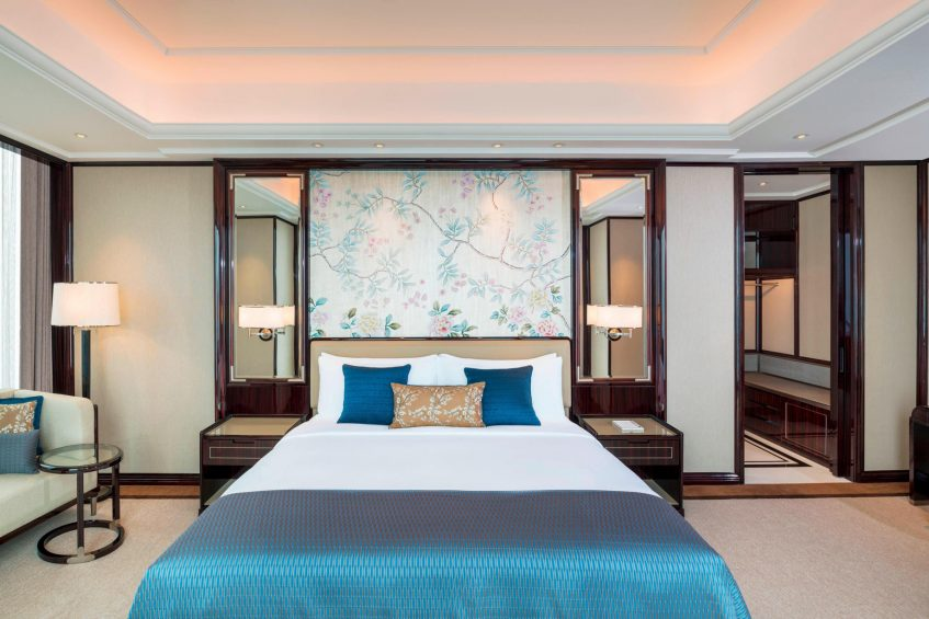 The St. Regis Changsha Luxury Hotel - Changsha, China - St. Regis Suite Bed