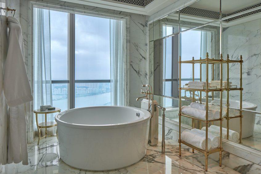 The St. Regis Zhuhai Luxury Hotel - Zhuhai, Guangdong, China - Caroline Astor Suite Bathroom Tub