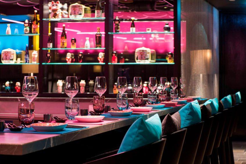 W Verbier Luxury Hotel - Verbier, Switzerland - Carve Sushi Bar Seating