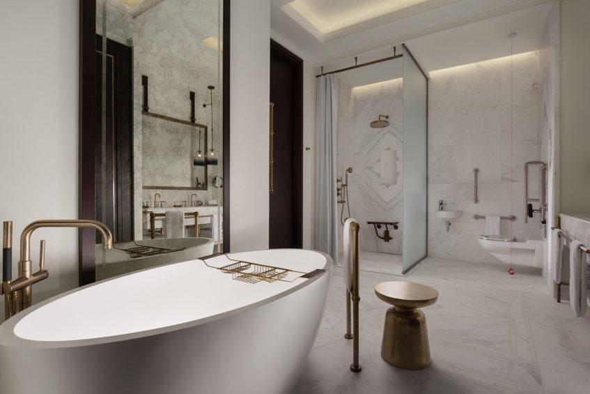 The St. Regis Astana Luxury Hotel - Astana, Kazakhstan - Accessible Bathroom Tub and Shower