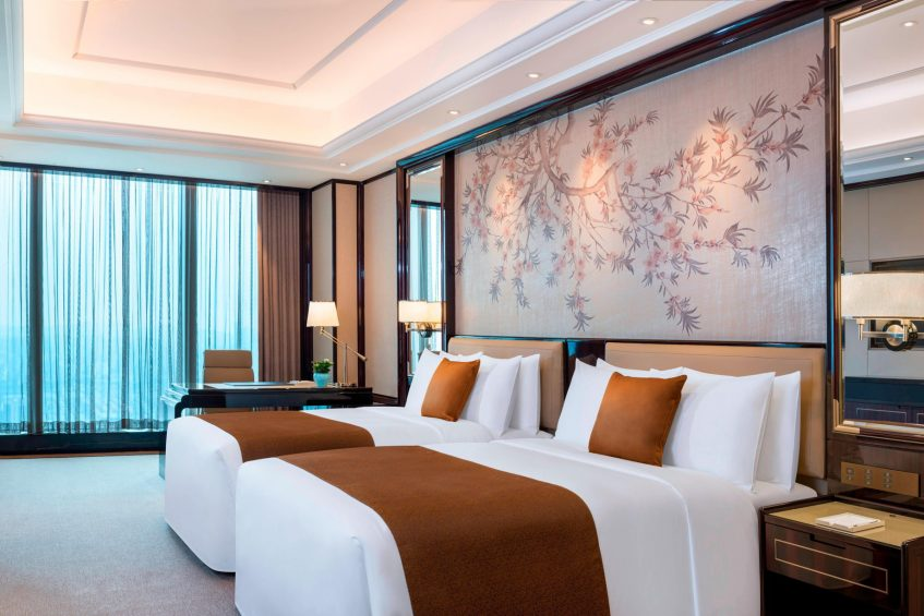 The St. Regis Changsha Luxury Hotel - Changsha, China - Superior Guest Room Beds