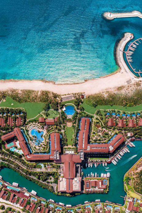 The St. Regis Sanya Yalong Bay Luxury Resort - Hainan, China - Resort Overhead Aerial View