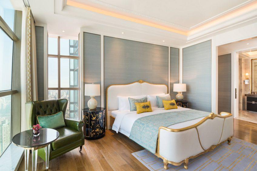 The St. Regis Shanghai Jingan Luxury Hotel - Shanghai, China - Two Bedroom Apartment Bedroom