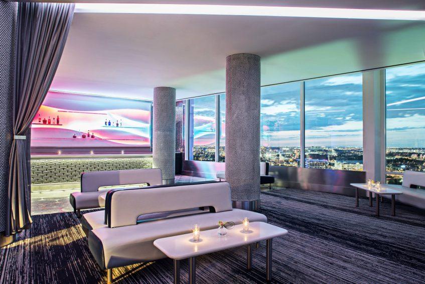 W Dallas Victory Luxury Hotel - Dallas, TX, USA - Altitude VIP Bar Decor
