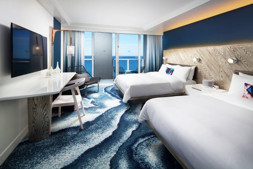 W Fort Lauderdale Luxury Hotel - Fort Lauderdale, FL, USA - Fabulous Oceanfront Queen Guest Room