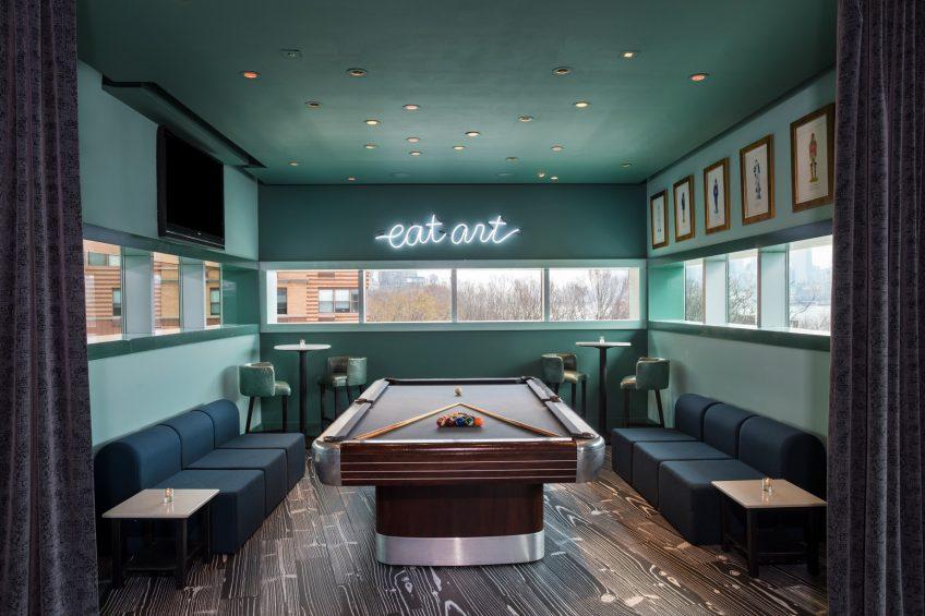 W Hoboken Luxury Hotel - Hoboken, NJ, USA - LULU Billiards Table