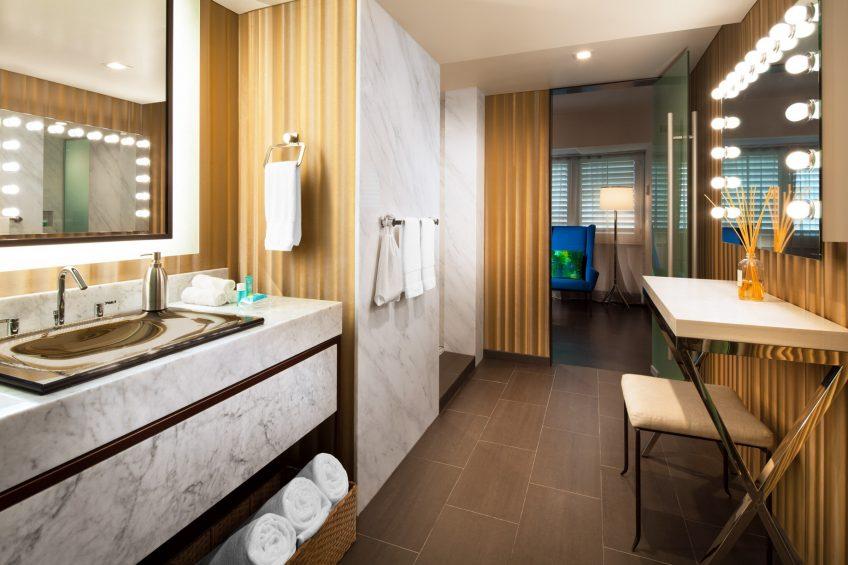 W Los Angeles West Beverly Hills Luxury Hotel - Los Angeles, CA, USA - E Wow Bathroom