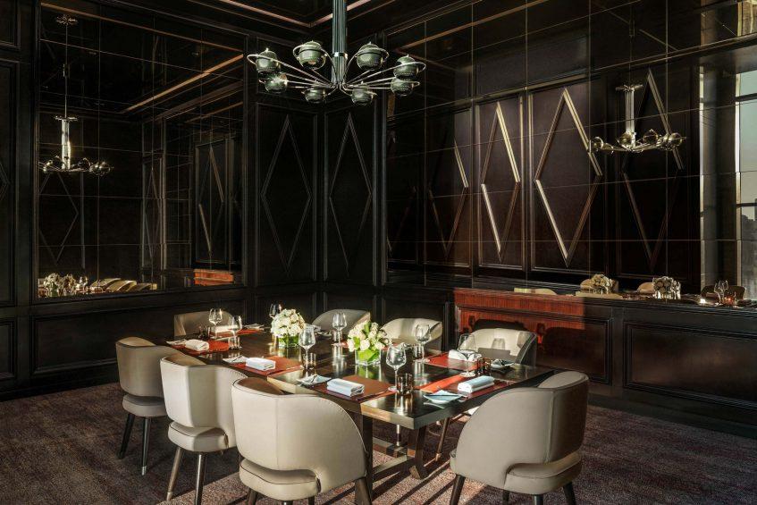 The St. Regis Cairo Luxury Hotel - Cairo, Egypt - J&G Steakhouse Restaurant Private Dining Table