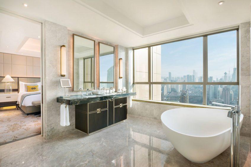 The St. Regis Shanghai Jingan Luxury Hotel - Shanghai, China - Deluxe Guest Bathroom