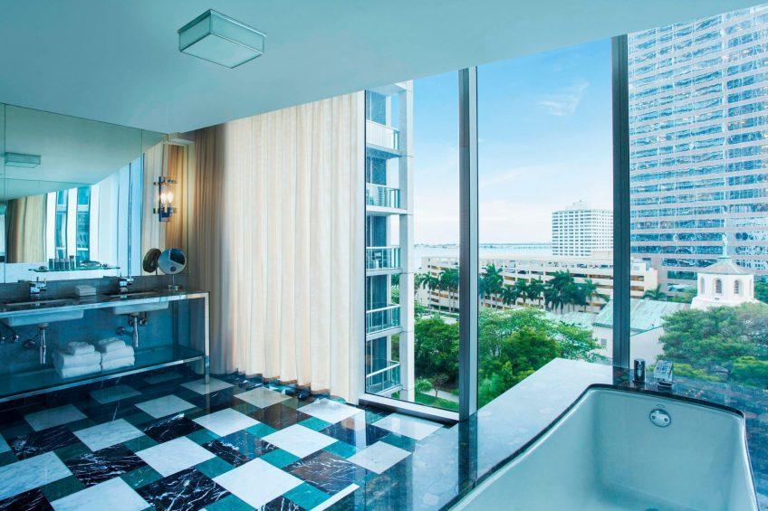 W Miami Luxury Hotel - Miami, FL, USA - Cool Corner Guest Bathroom