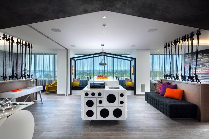 W Bellevue Luxury Hotel - Bellevue, WA, USA - E Wow Suite Decor