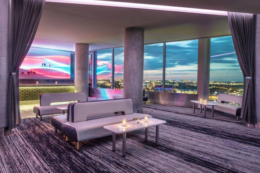 W Dallas Victory Luxury Hotel - Dallas, TX, USA - Altitude VIP Bar View
