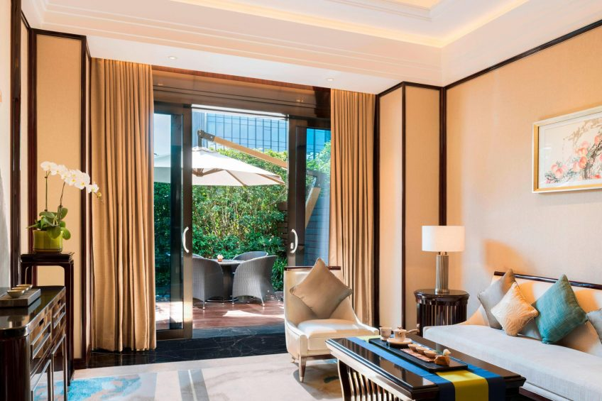 The St. Regis Changsha Luxury Hotel - Changsha, China - Tea Lounge and Outdoor Terrace