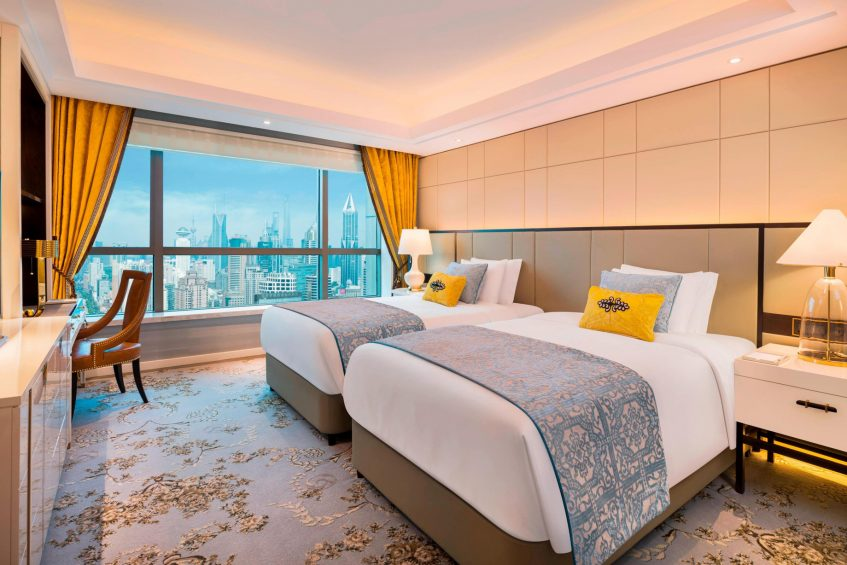 The St. Regis Shanghai Jingan Luxury Hotel - Shanghai, China - Deluxe Guest Room Twin