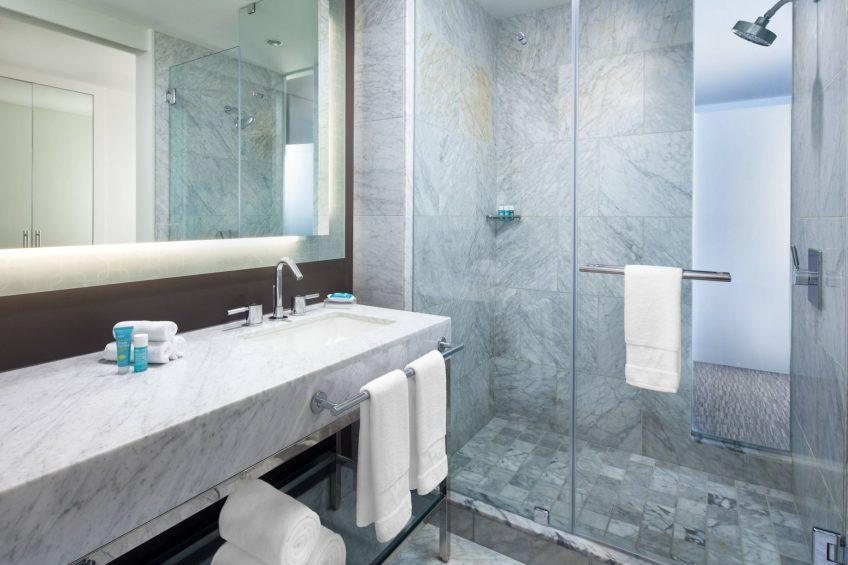 W Hollywood Luxury Hotel - Hollywood, CA, USA - Guest Bathroom Shower