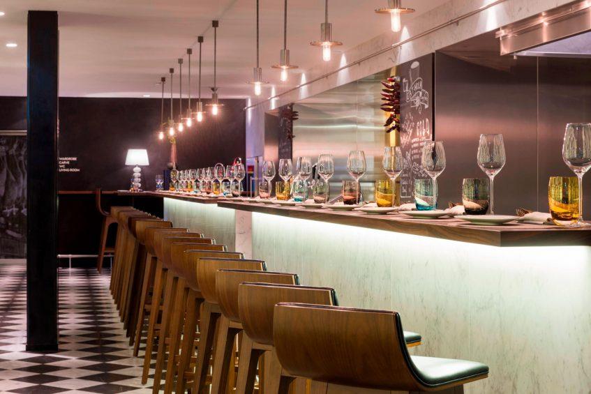 W Verbier Luxury Hotel - Verbier, Switzerland - EAT HOLA Tapas Bar Seating