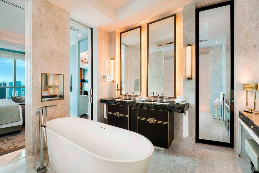 The St. Regis Shanghai Jingan Luxury Hotel - Shanghai, China - Caroline Suite Bathroom