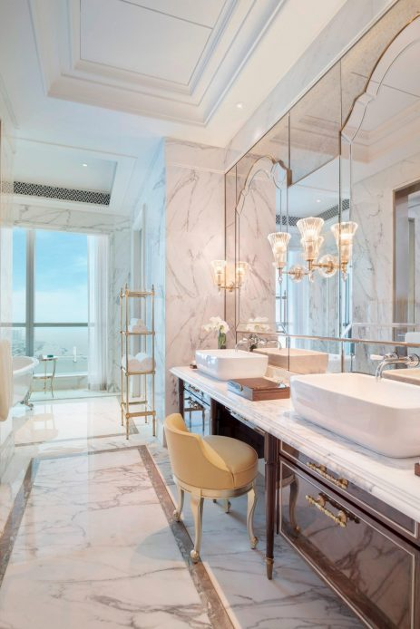 The St. Regis Zhuhai Luxury Hotel - Zhuhai, Guangdong, China - Greater Bay Ocean View King Room Bathroom