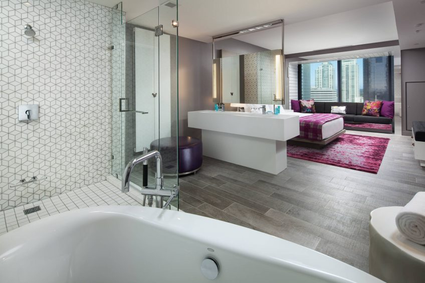 W Bellevue Luxury Hotel - Bellevue, WA, USA - Wow Suite Bedroom