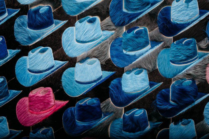 W Dallas Victory Luxury Hotel - Dallas, TX, USA - Cowboy Hats
