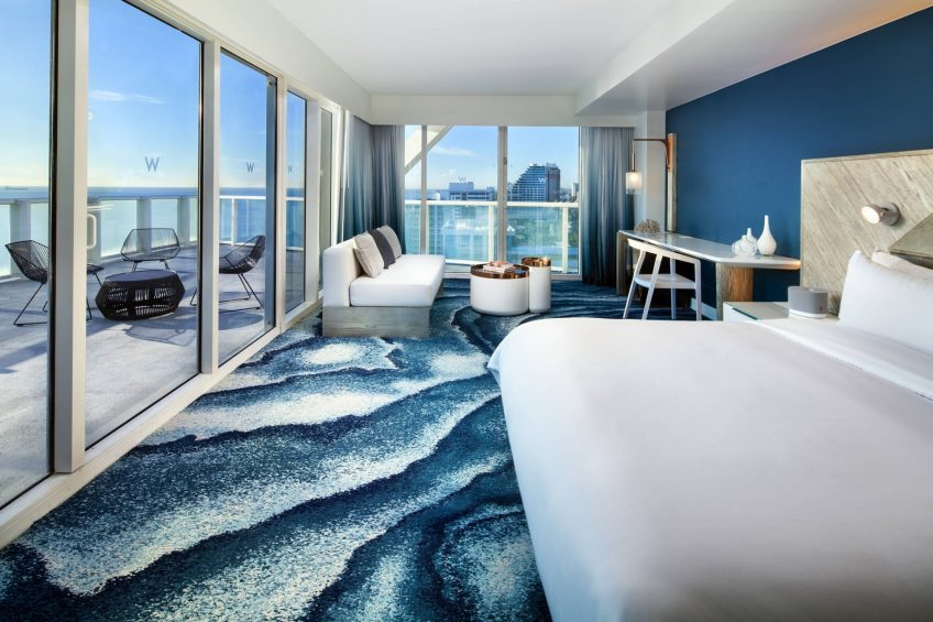 W Fort Lauderdale Luxury Hotel - Fort Lauderdale, FL, USA - Guest Room Sensational Oceanfront Studio