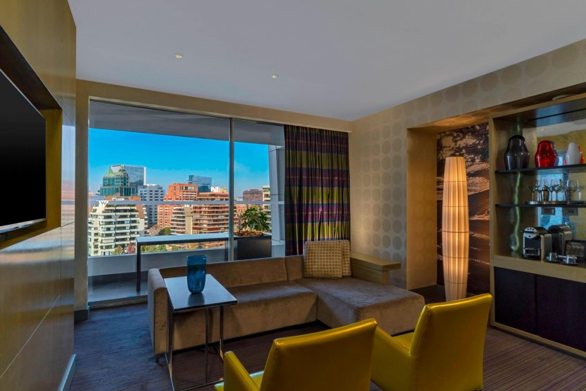 W Santiago Luxury Hotel - Santiago, Chile - Marvelous Suite Living Room View