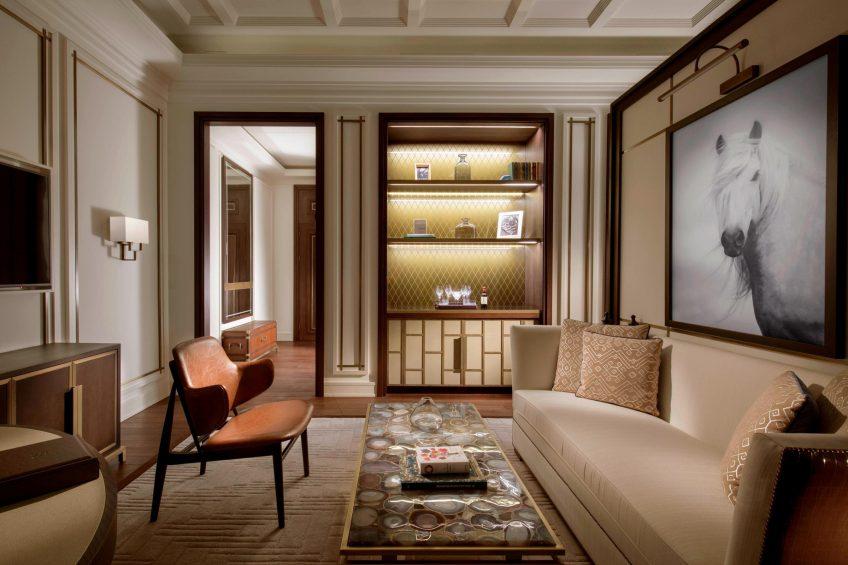 The St. Regis Astana Luxury Hotel - Astana, Kazakhstan - Grand Deluxe Room Living Room