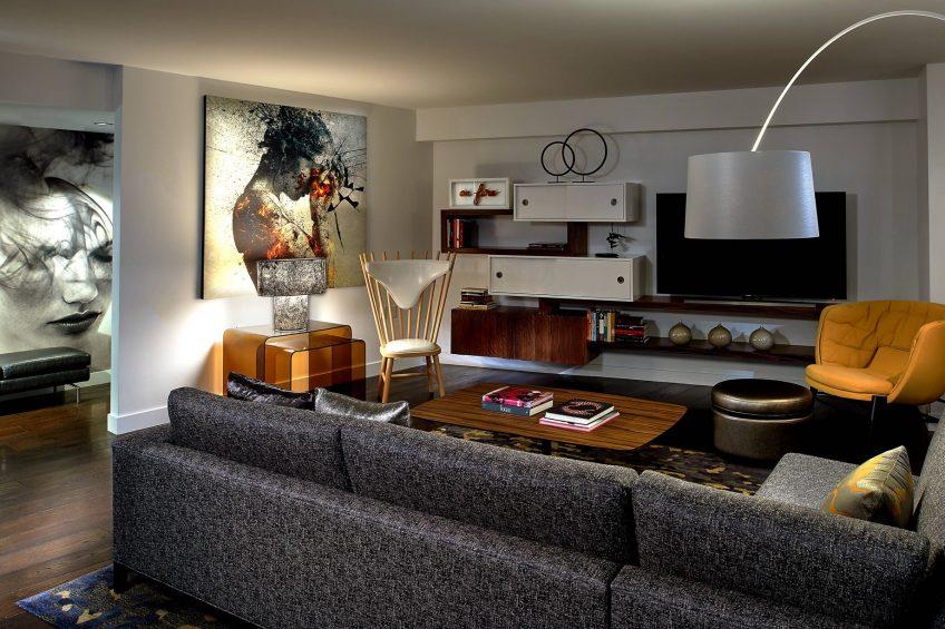W Boston Luxury Hotel - Boston, MA, USA - Extreme WOW Suite Living Area