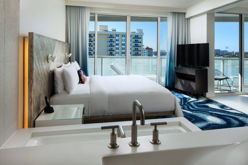 W Fort Lauderdale Luxury Hotel - Fort Lauderdale, FL, USA - Escape Residential Guest Room