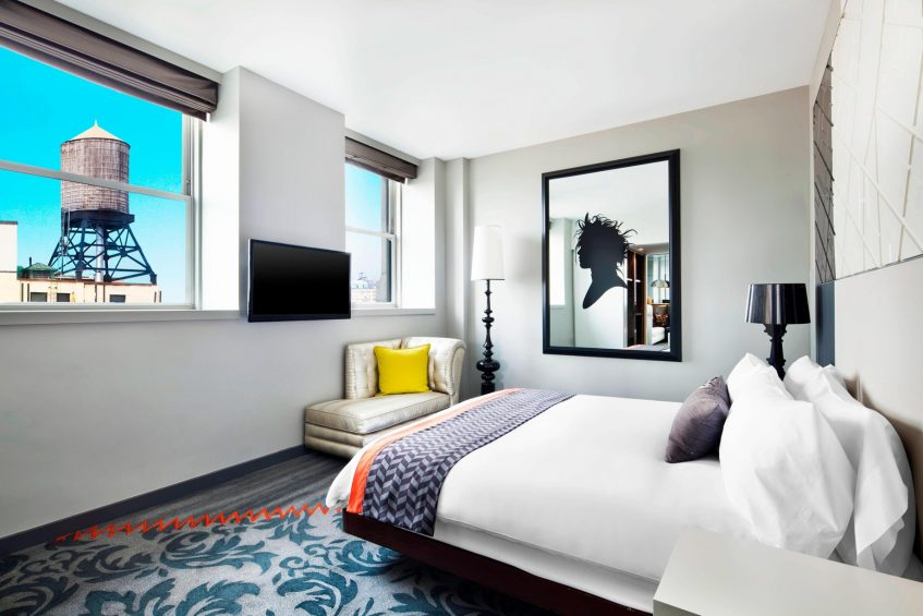 W New York Union Square Luxury Hotel - New York, NY, USA - E WOW Bedroom View