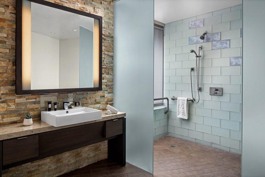 W Scottsdale Luxury Hotel - Scottsdale, AZ, USA - Cool Corner Accessible Guest Bathroom Shower