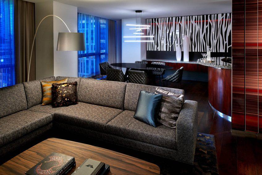 W Boston Luxury Hotel - Boston, MA, USA - Extreme WOW Suite Dining Area