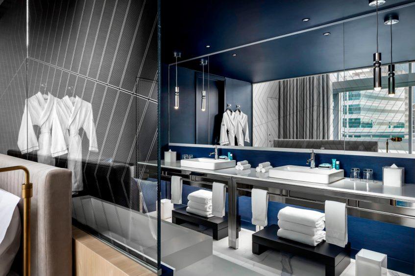W Montreal Luxury Hotel - Montreal, Quebec, Canada - Extreme Wow Suite Bathroom