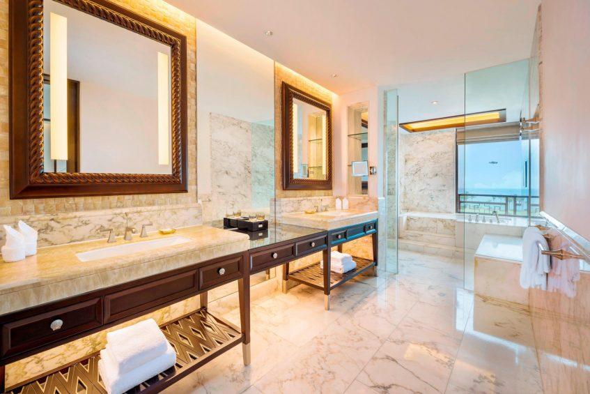 The St. Regis Sanya Yalong Bay Luxury Resort - Hainan, China - Premium Ocean View Room Bathroom