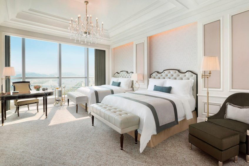 The St. Regis Zhuhai Luxury Hotel - Zhuhai, Guangdong, China - Twin Room Bedroom Shizimen River View