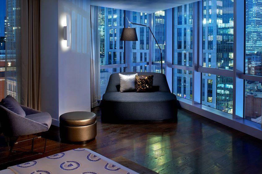 W Boston Luxury Hotel - Boston, MA, USA - Extreme WOW Suite Bedroom View