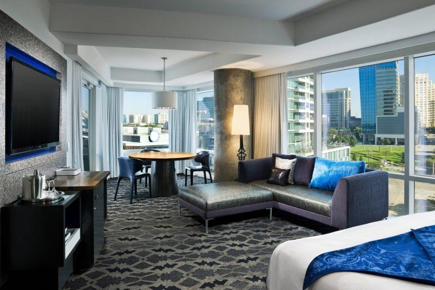 W Dallas Victory Luxury Hotel - Dallas, TX, USA - Cool Corner Guest Room
