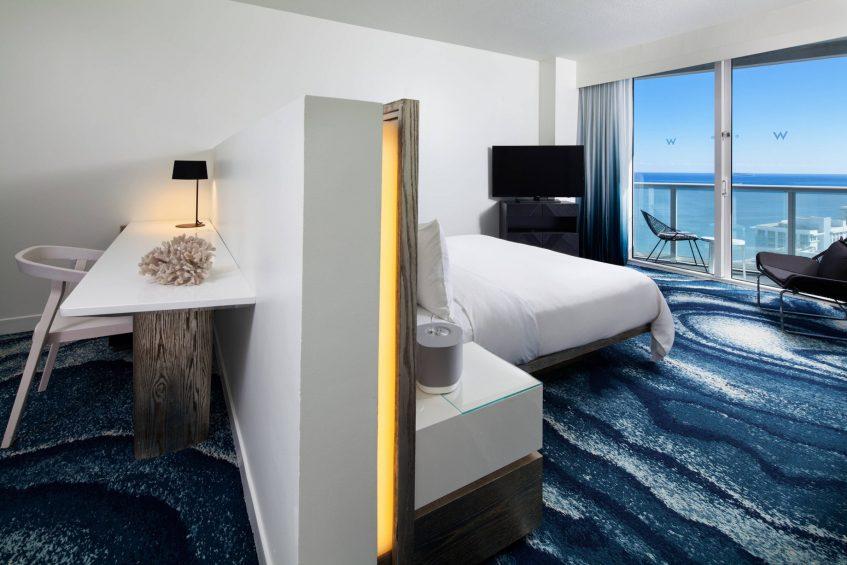 W Fort Lauderdale Luxury Hotel - Fort Lauderdale, FL, USA - Mega Ocean View Guest Room