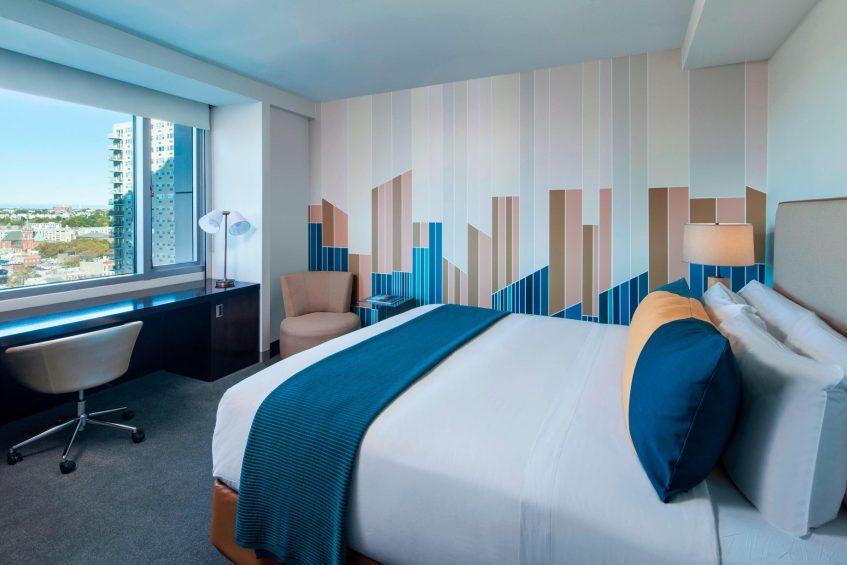 W Hoboken Luxury Hotel - Hoboken, NJ, USA - Cozy King Guest Room