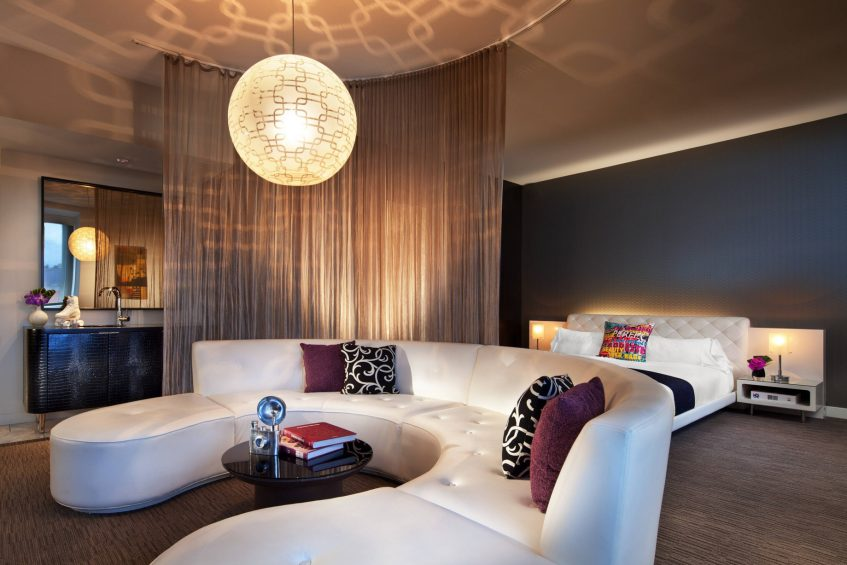W Hollywood Luxury Hotel - Hollywood, CA, USA - Marvelous Suite Decor