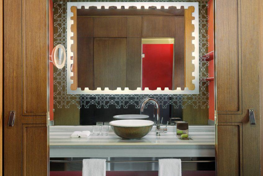 W Istanbul Luxury Hotel - Istanbul, Turkey - Guest Bathroom Vanity Decor