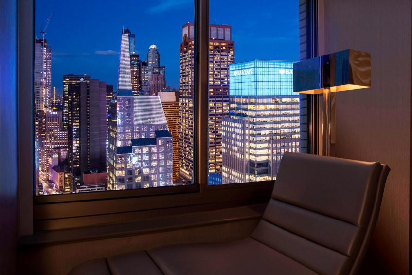 W New York Times Square Luxury Hotel - New York, NY, USA - Cool Corner Hudson View Guest Room North View