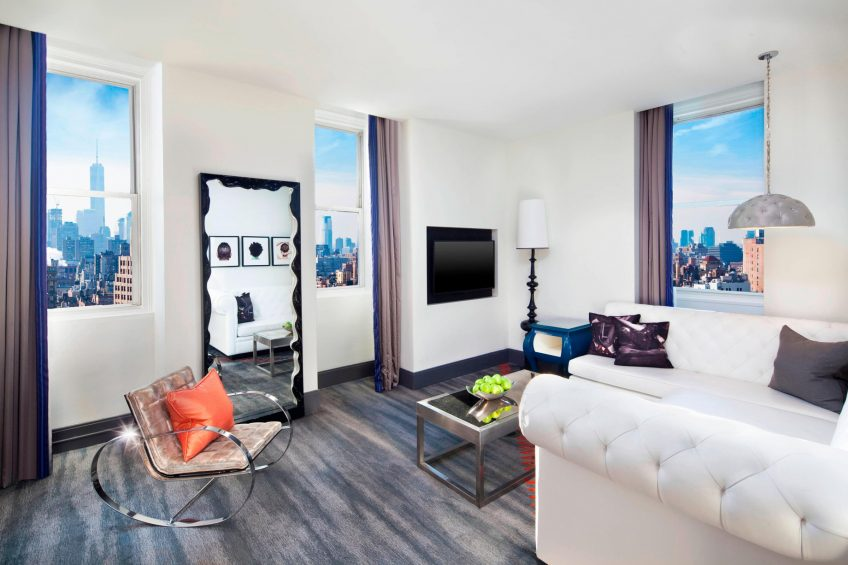 W New York Union Square Luxury Hotel - New York, NY, USA - WOW Suite Living Room