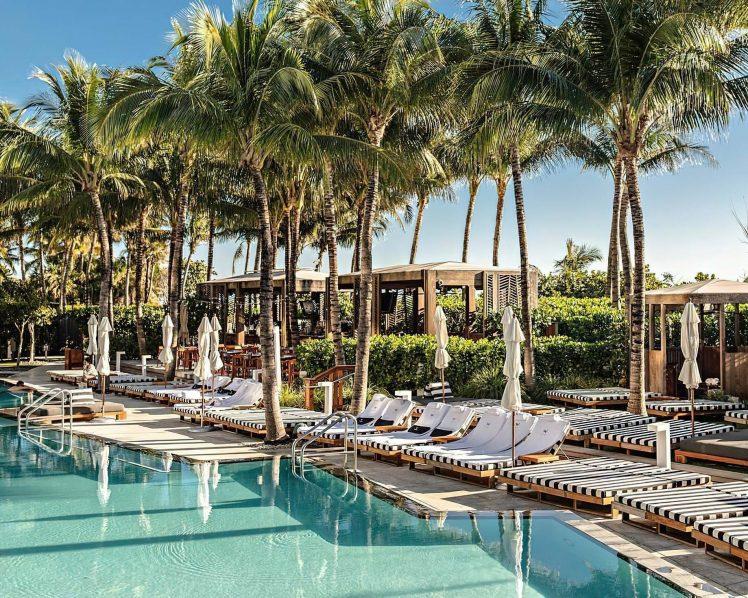 W South Beach Luxury Hotel - Miami Beach, FL, USA - Pool Cabana and Chairs