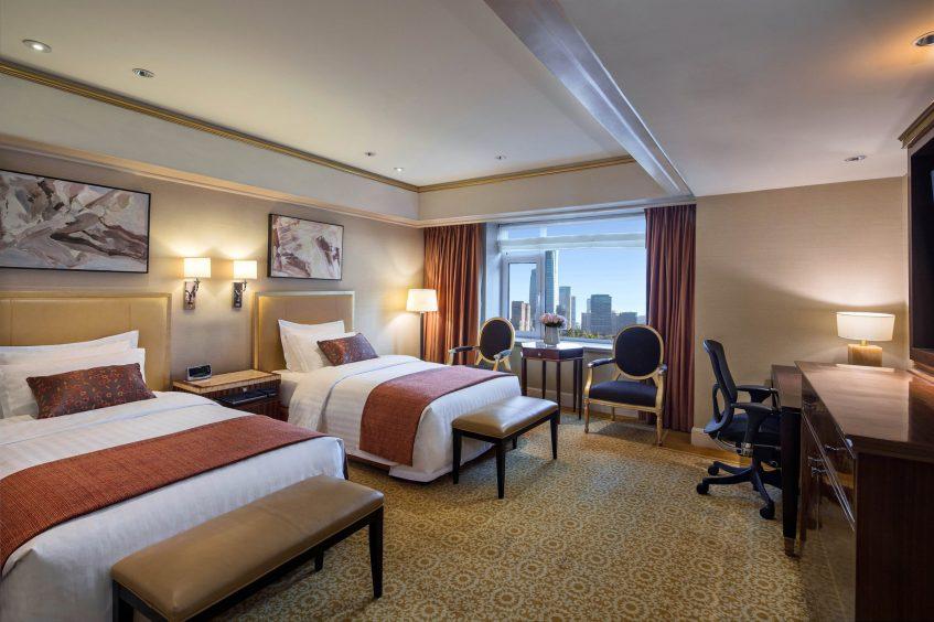 The St. Regis Beijing Luxury Hotel - Beijing, China - Deluxe Room Bed