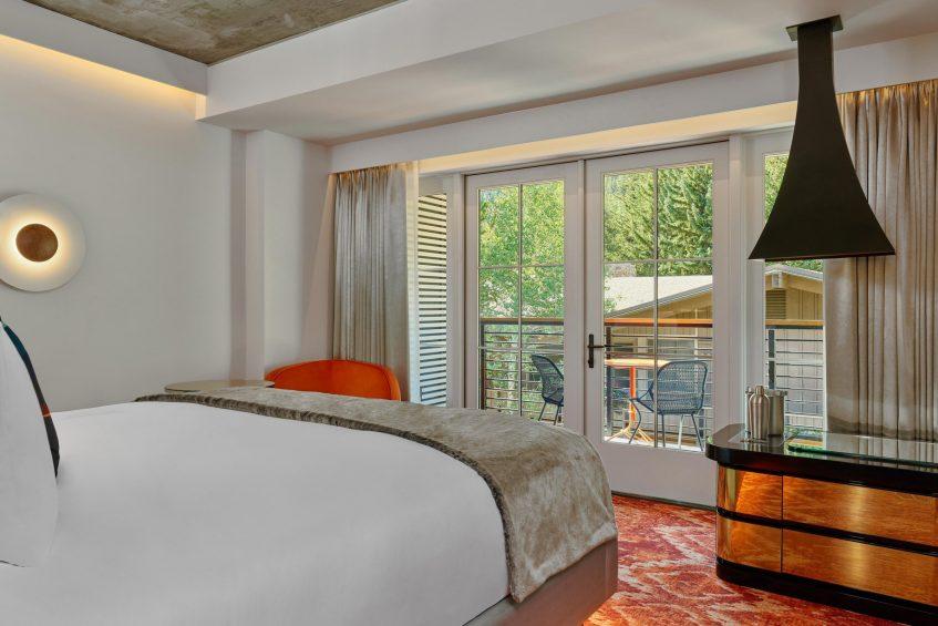 W Aspen Luxury Hotel - Aspen, CO, USA - Fabulous Balcony Guest Room
